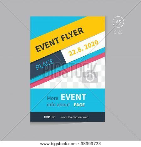 Vector Event Flyer Template Design