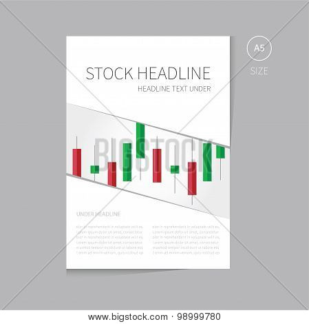 Vector Finance Brochure Template For Stock