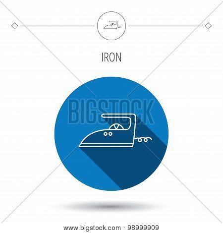 Iron icon. Ironing housework sign.