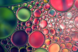 picture of drop oil  - Oil drops on water surface - JPG
