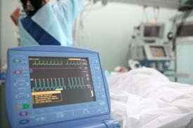 pic of icu  - Working nurse with the patient in ICU ward - JPG