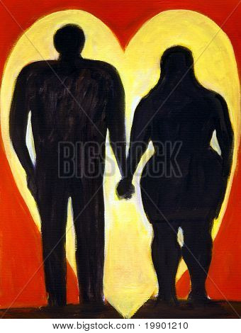 Curvy Couple Silhouette