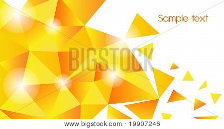 Gold Triangle Background