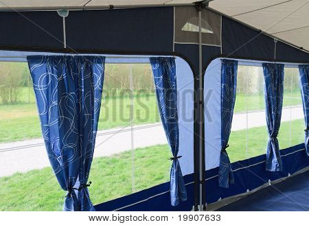 Inside Of Caravan Awning Tent