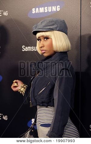 LOS ANGELES - MAY 12:  Nicki Minaj arriving at the  Samsung Infuse 4G For AT&T Launch Event at Milk Studios on May 12, 2011 in Los Angeles, CA