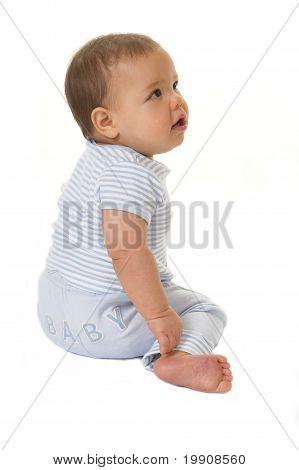 Adorable baby boy