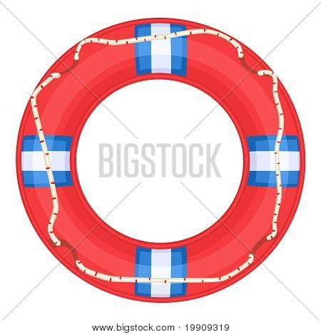 Red Life Buoy - Vector