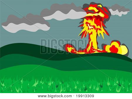 Atomic Explosion Background