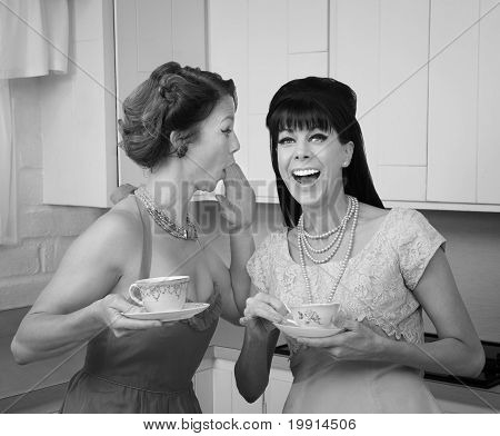 Woman Whispers Joke
