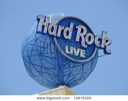 Hard Rock Hotel And Casino Sign