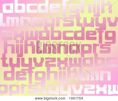 Color Alphabet Background