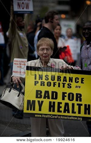 female protester for health care reform
