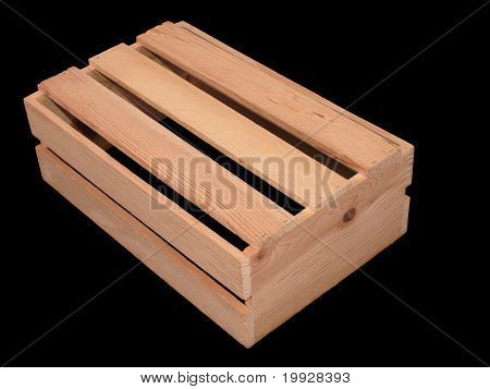 Wooden Slatted Box