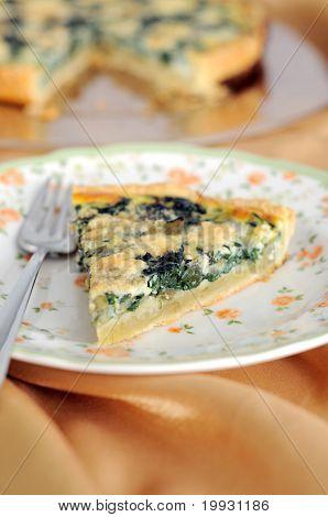 Chard, leek and blu cheese tart