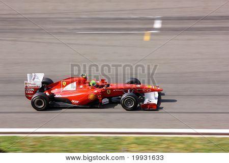 Ferrari On Race With Felipe Massa