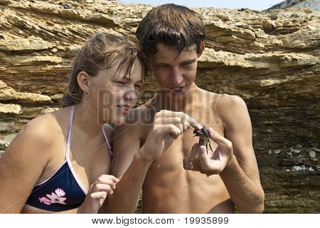 Children And Crab