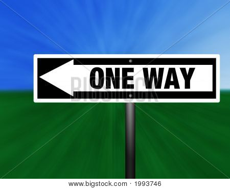 One Way Graphic Street Sign