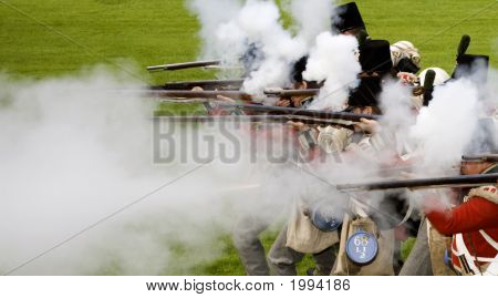 Soldiers Shooting With Blackpowder