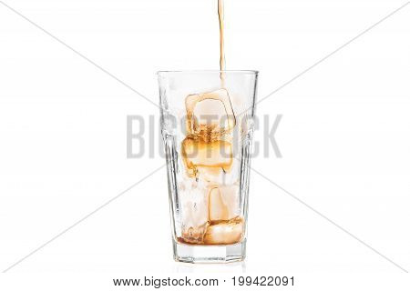 Poured Glass Of Cola