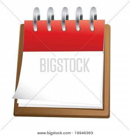 blank calendar sheet