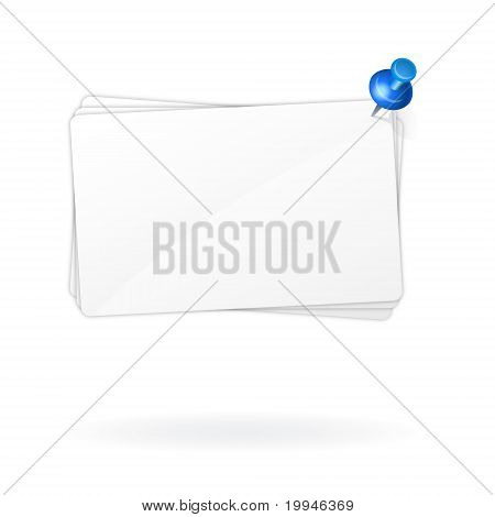 blank note sheets with push pin