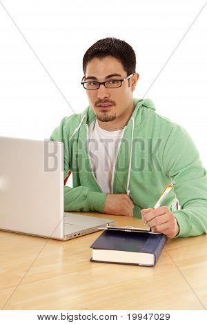 Man Green Computer Pen