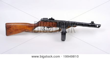 Russian PPSh Machine Gun.