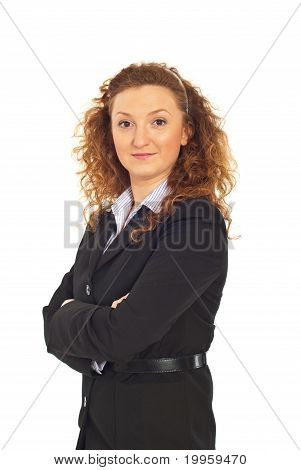 Happy Executive Woman In Semi Profile