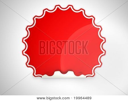 Red Round Hamous Sticker Or Label