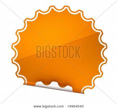 Spotted Orange Round Hamous Sticker Or Label