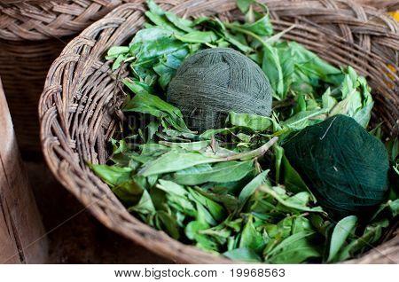 Green wool clews