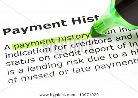 Payment History Definition