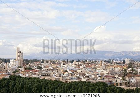 Panoramic View Of Nicosia City