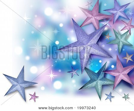 Glitter Star Background with Twinkles