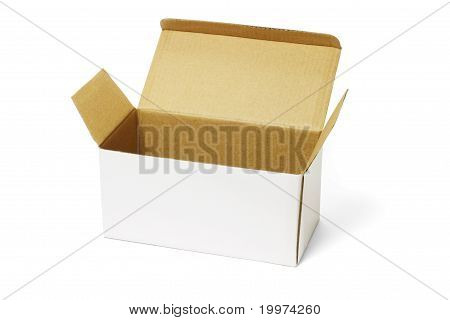 Open White Carton Box