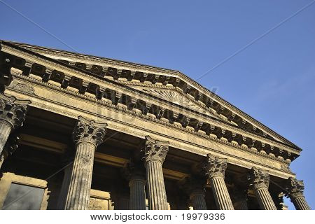 Pediment of Kazan Cathedral in St.Petersburg
