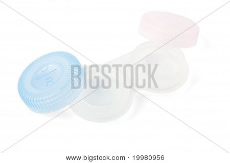 Container With Contact Lenses