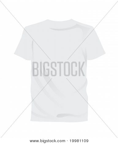 white blank tee shirt to customize
