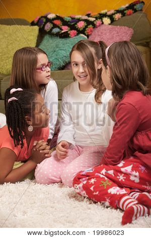 Four Chatty Little Girls