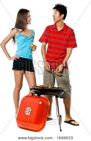 Couple And Bbq