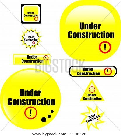 Taste unter Bau Webseite Symbol