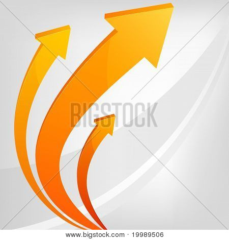 Abstract Vector Arrows With Gray Background