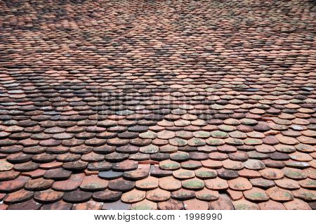 Large Background Of Roof Tiles