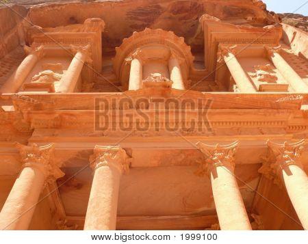 Treasury, Al-Khazneh, Facade Close-Up, Petra, Jordan