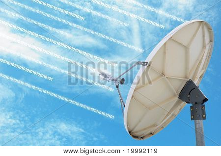 satellite dish antennas under blue sky