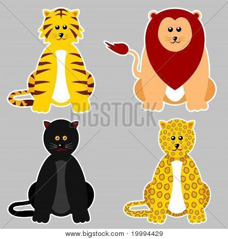 Animals _panthera Sticker.eps