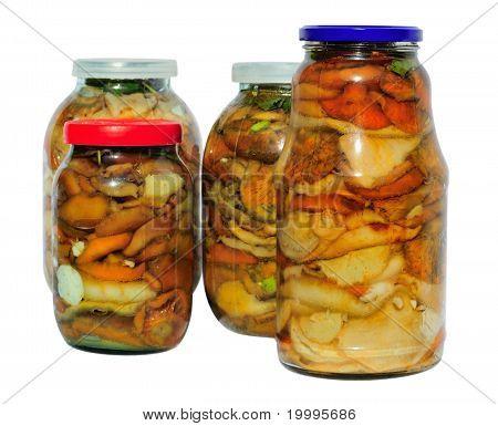 Assorted Pickled Mushrooms