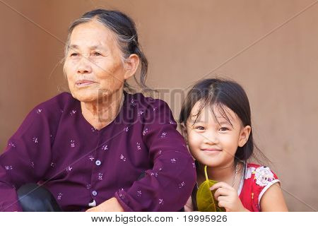 Vietnamese Senior and Child