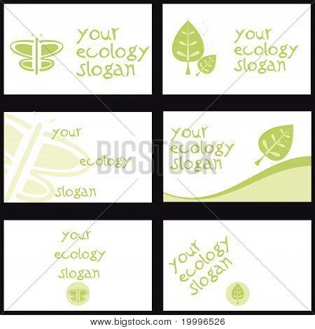 Set of 6 cards / ecology