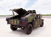 stock photo of humvee  - Camouflaged humvee truck at Manassas Air Show - JPG